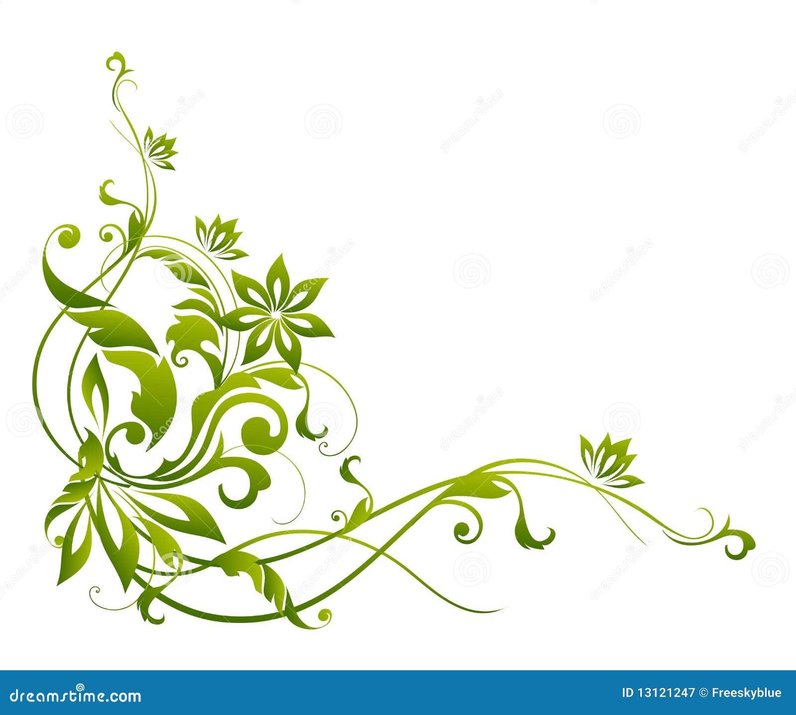 Лиана с цветами рисунок