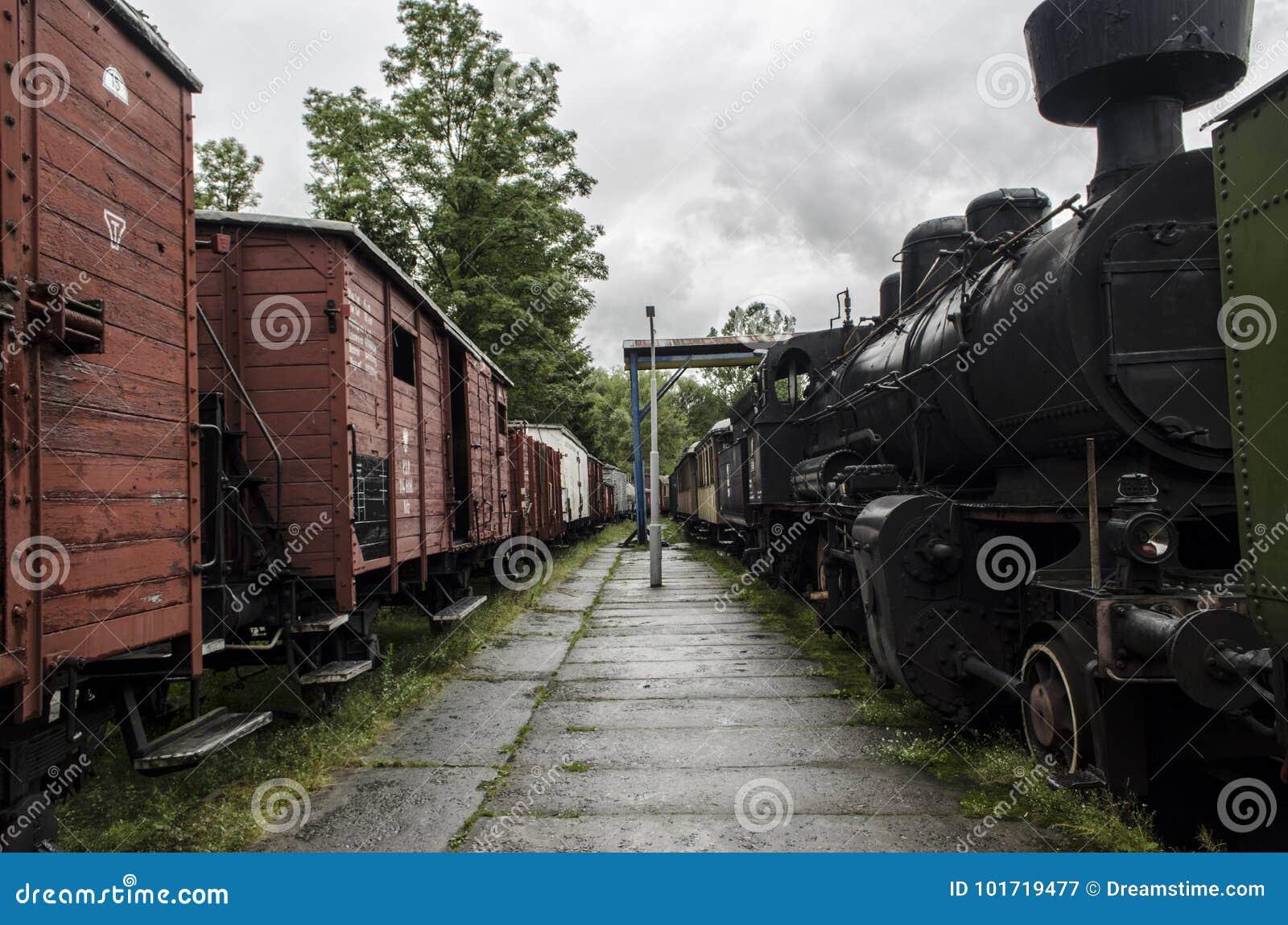 Локомотив пара, железная дорога