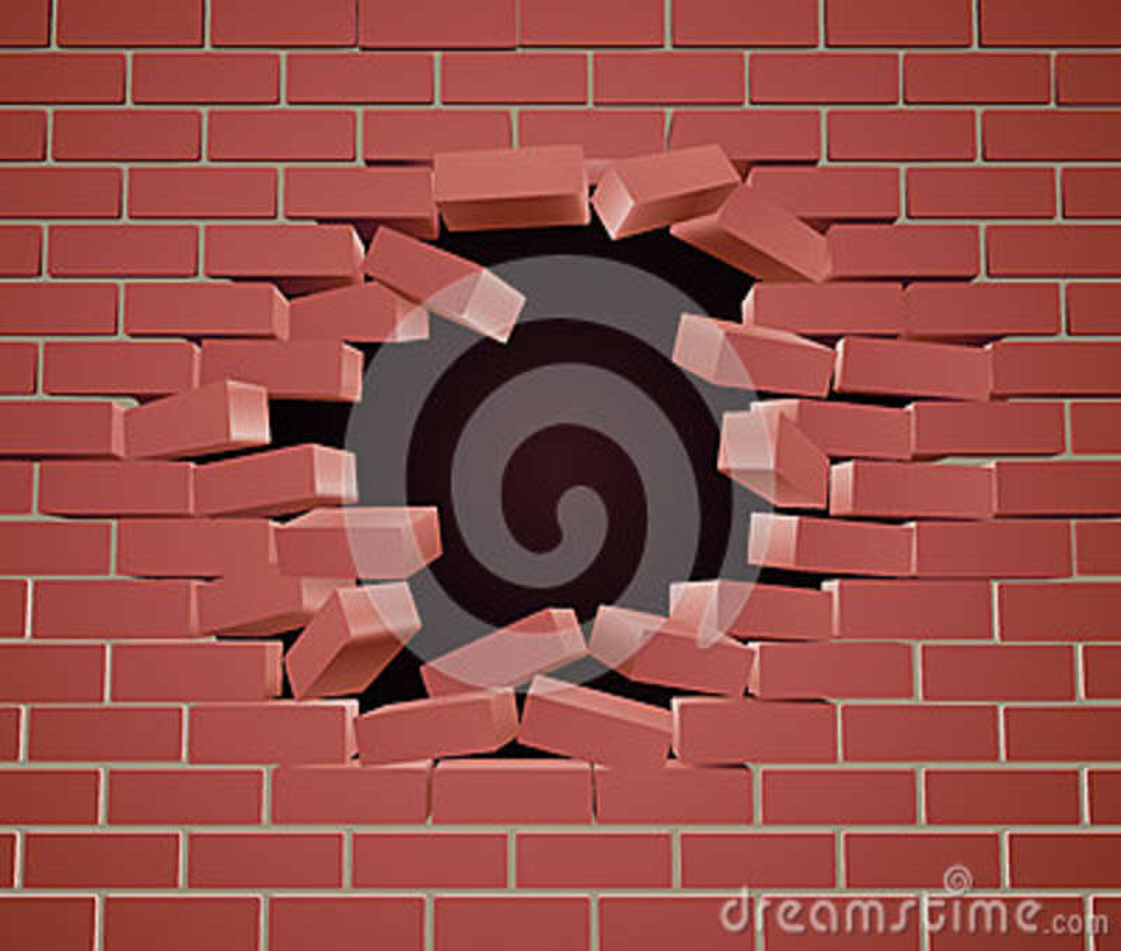 Ломать отверстие кирпичной стены