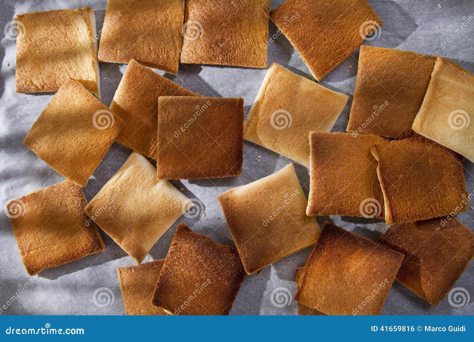 Ломтики toasted хлеба