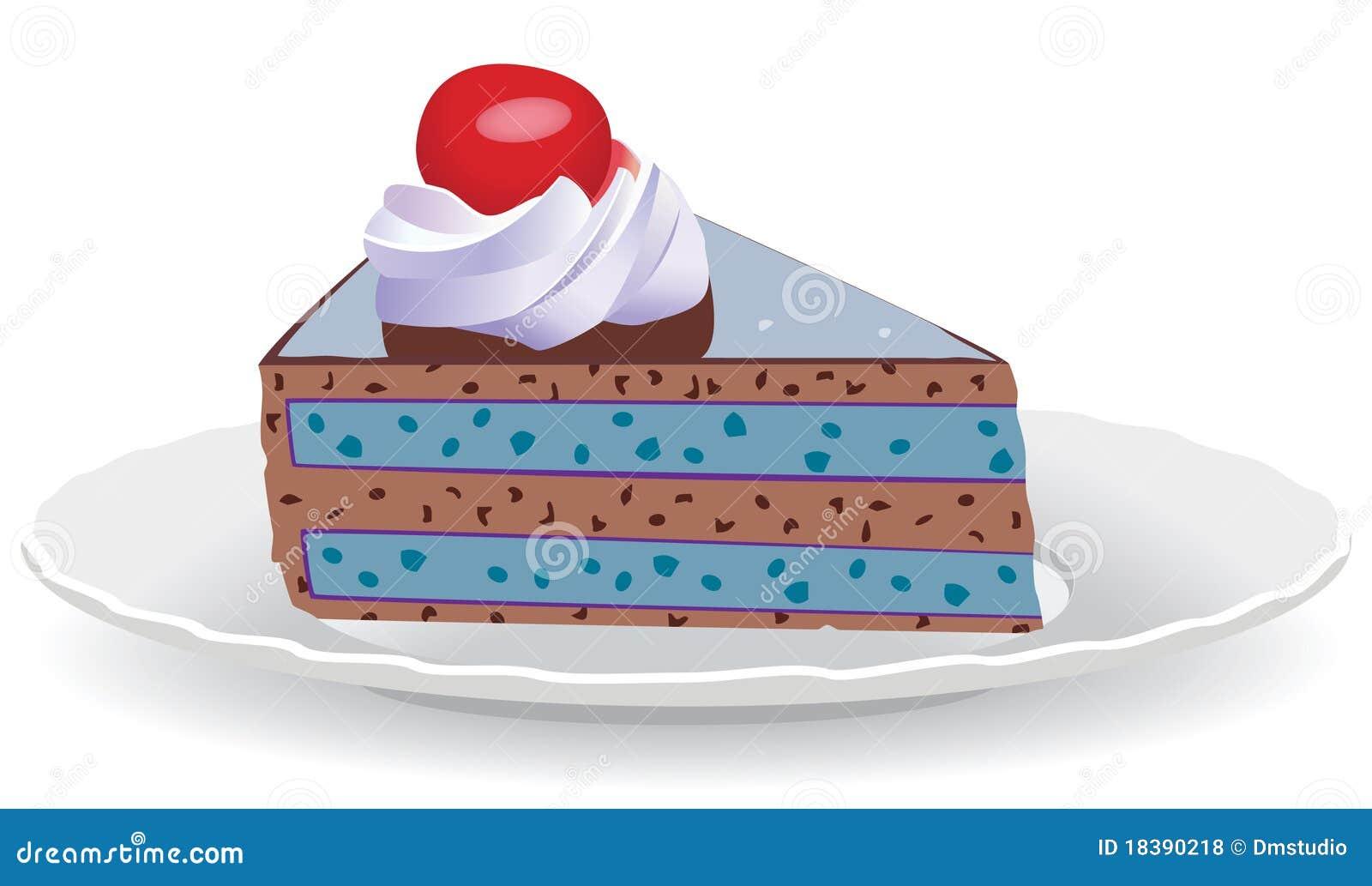ломтик плиты торта