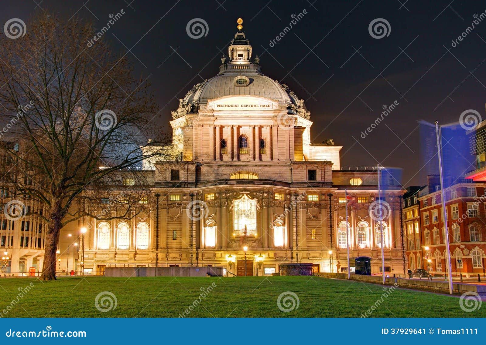 ЛОНДОН, ВЕЛИКОБРИТАНИЯ - 24-ОЕ ЯНВАРЯ: Методист центральный Hall, Вестминстер, Лондон