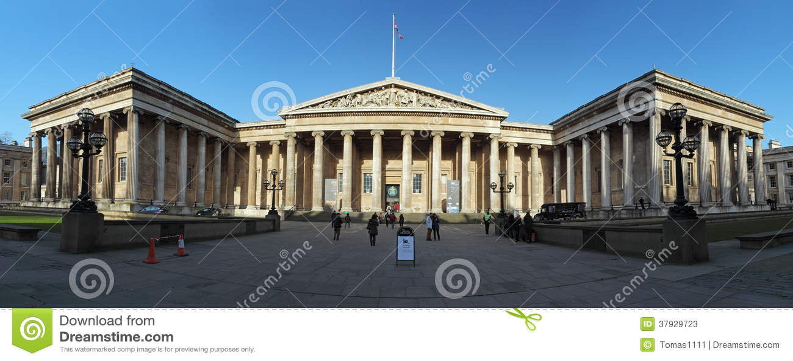ЛОНДОН - 5-ОЕ ЯНВАРЯ: Великобританский музей в Лондоне, Англии на января