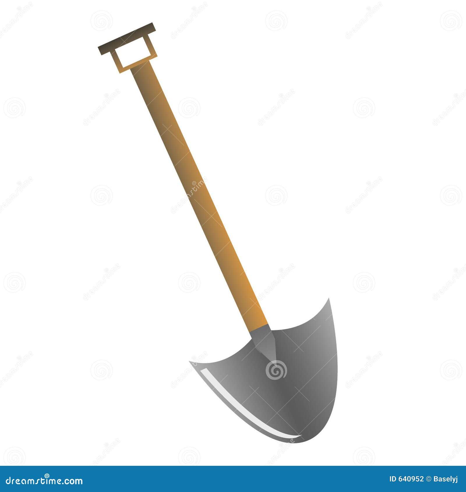 Download лопата иллюстрация вектора. иллюстрации насчитывающей сталь - 640952