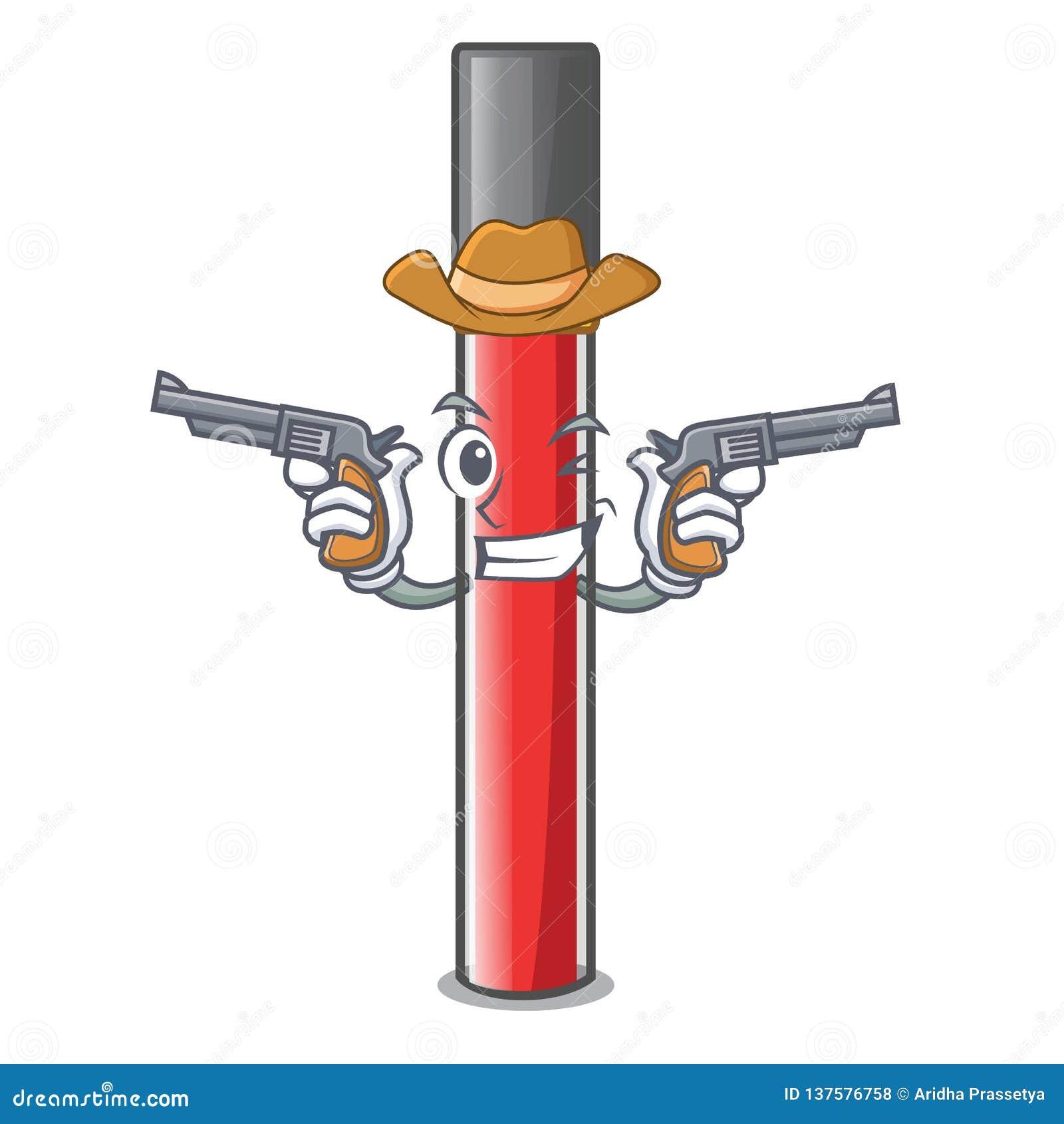 Лоск губы ковбоя в форме мультфильма