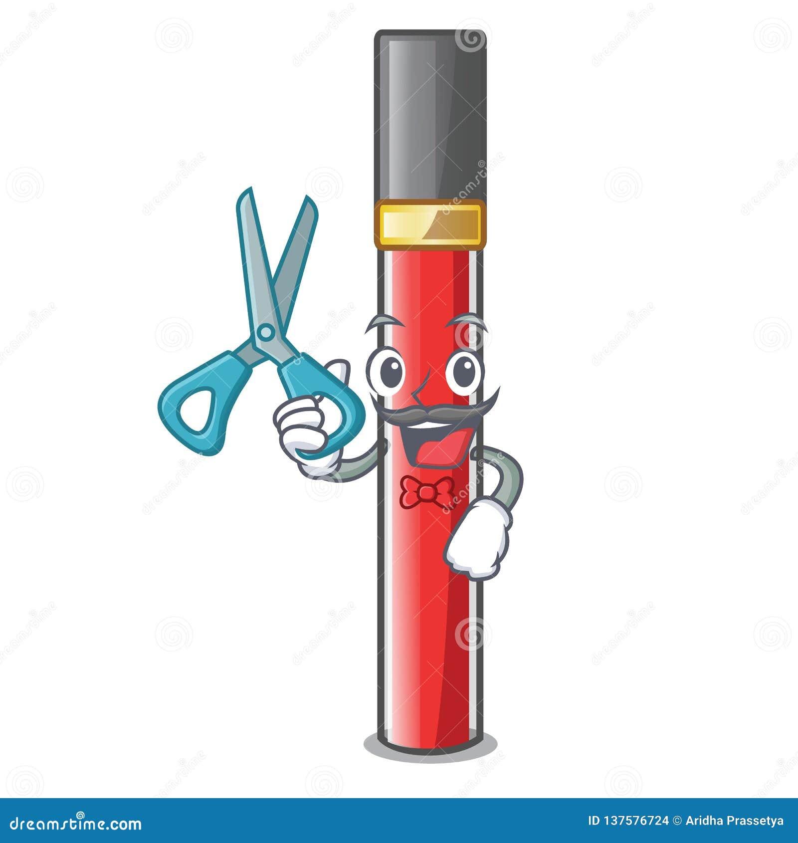 Лоск губы парикмахера в форме мультфильма