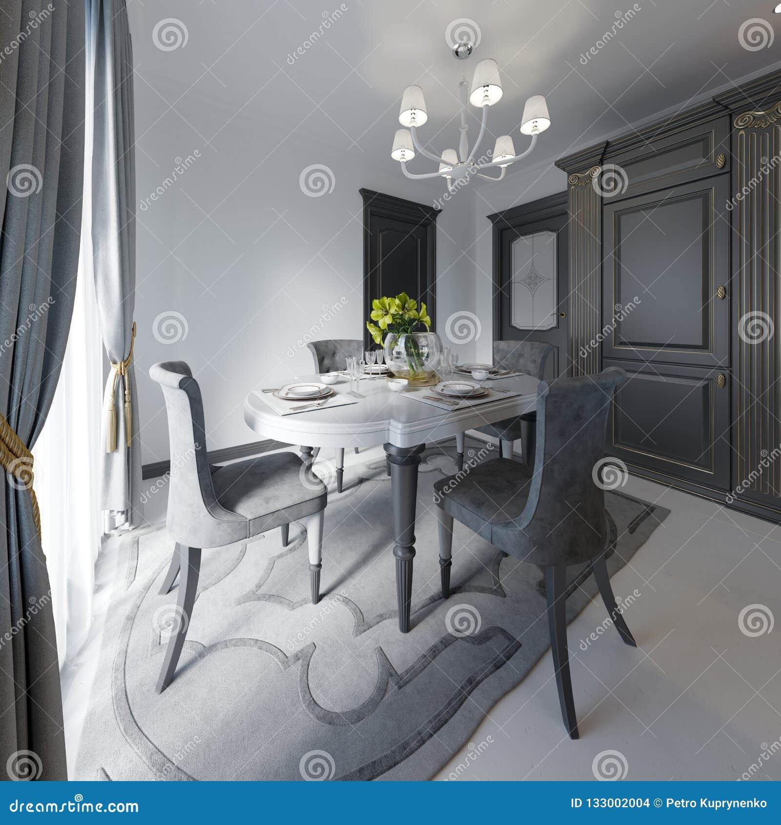 Лоск черноты цвета деревянного стола таблица сделанная темного деревянного классического стиля Таблица и 4 классической сюиты кух