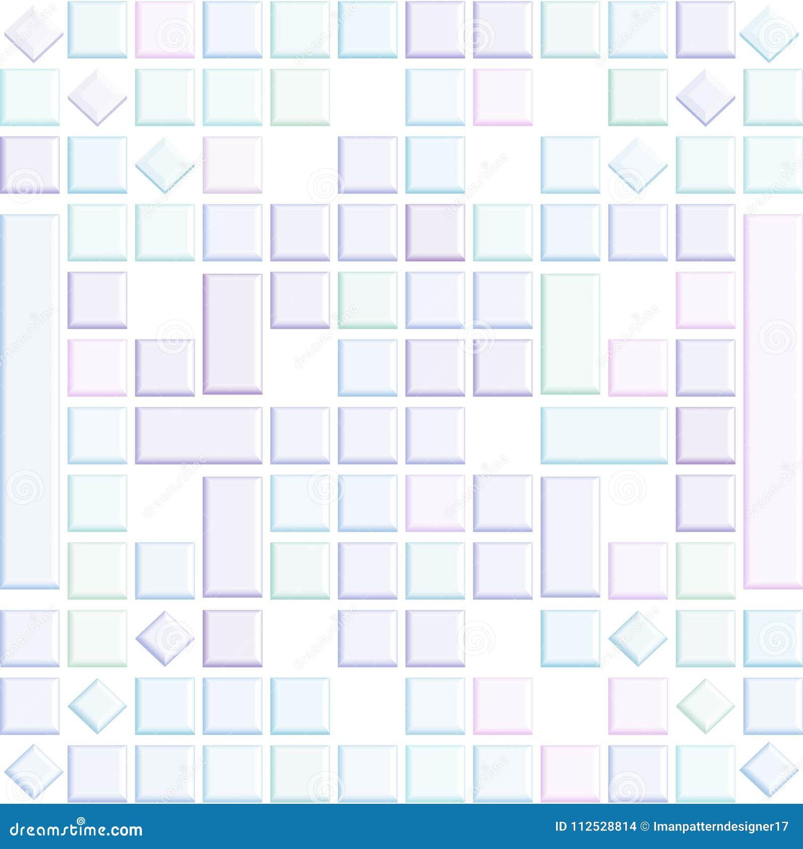 Лоснистая нежность покрасила квадраты 3D в абстрактной предпосылке