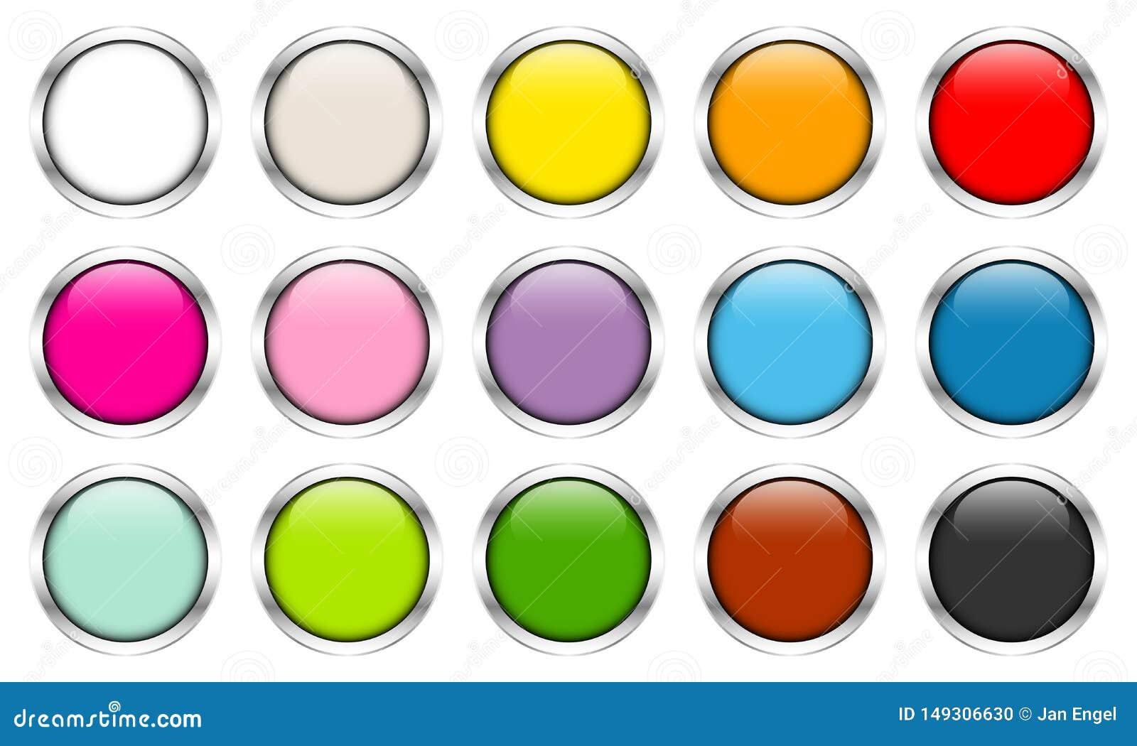 15 лоснистых кнопок красят серебряные рамки