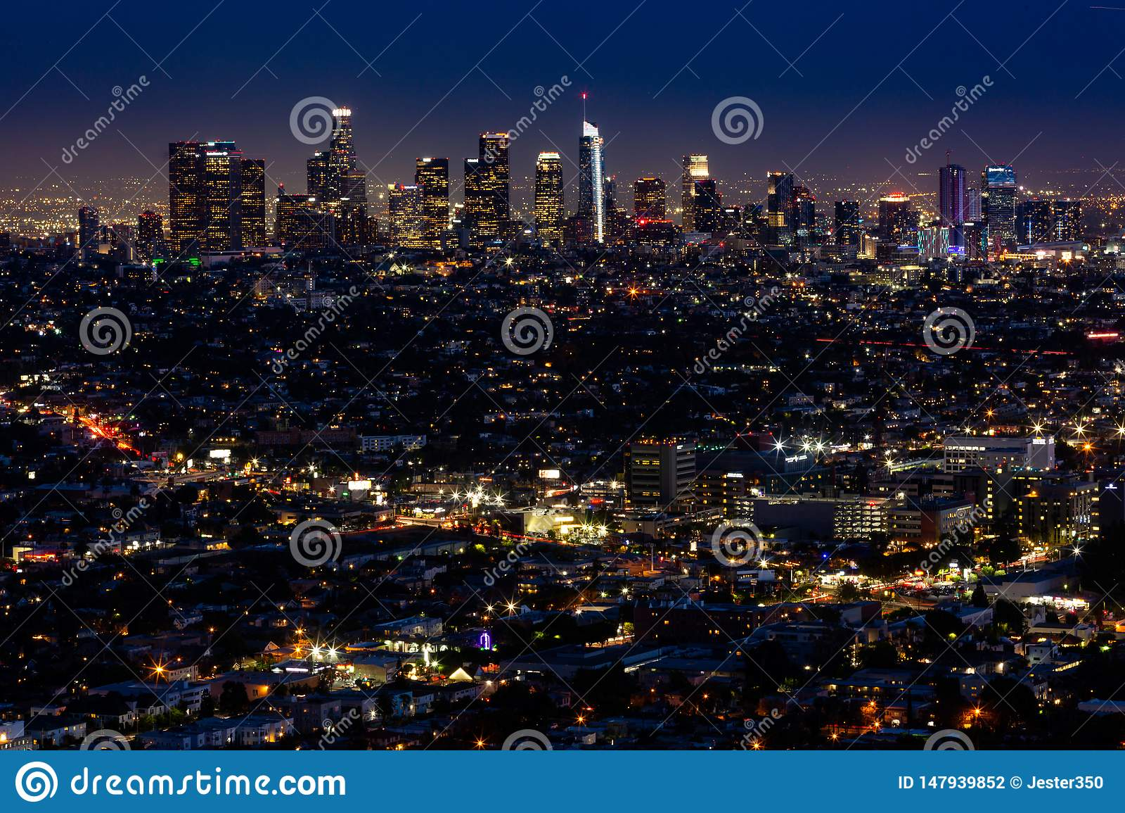 Лос-Анджелес вечером