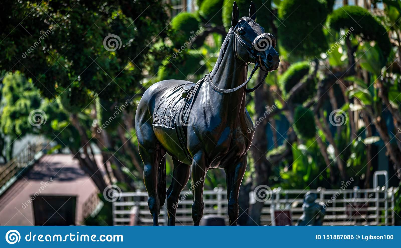 Лошадиные скачки парка Santa Anita