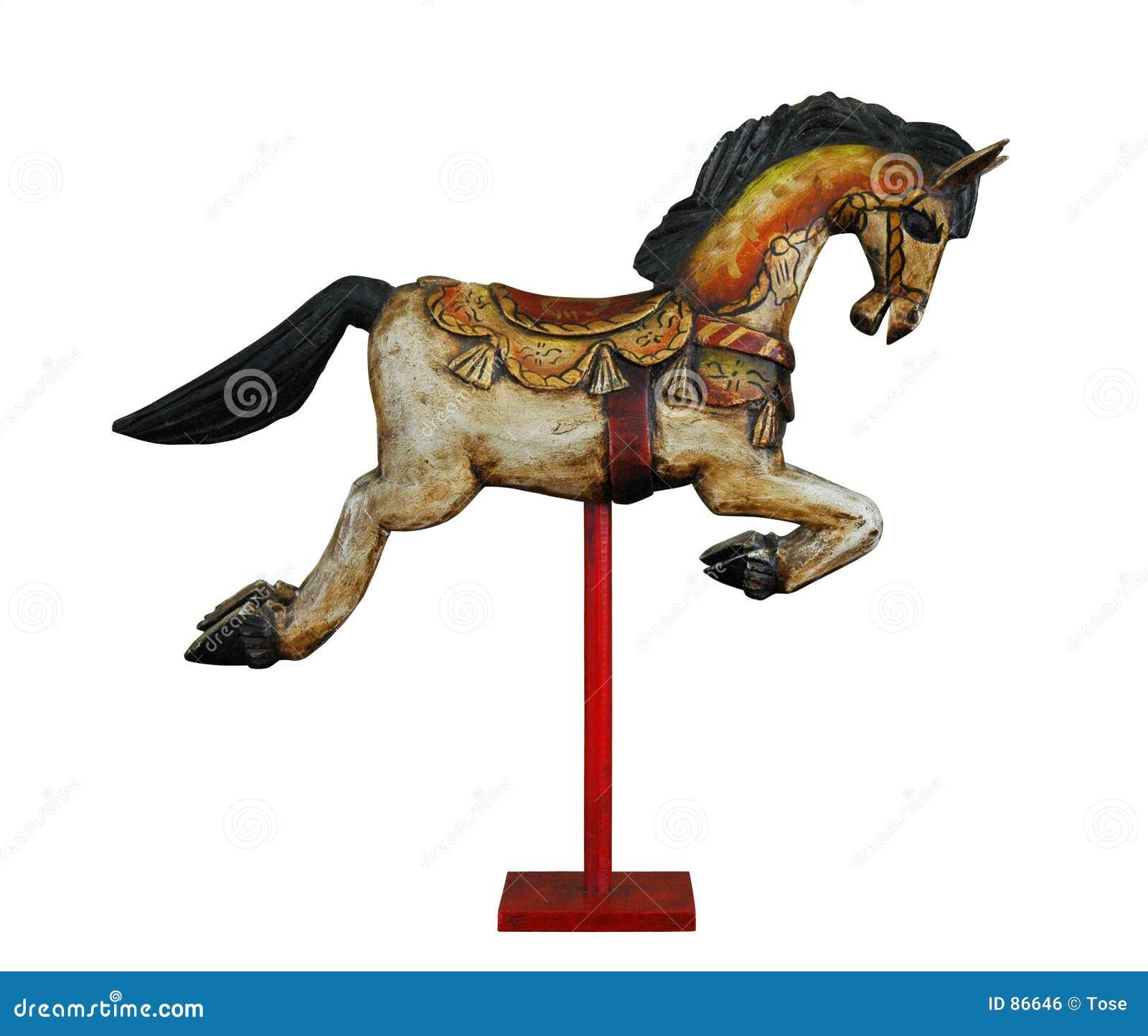 лошадь деревянная