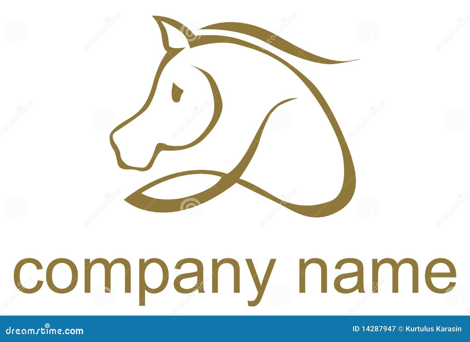 лошадь проиллюстрировала логос