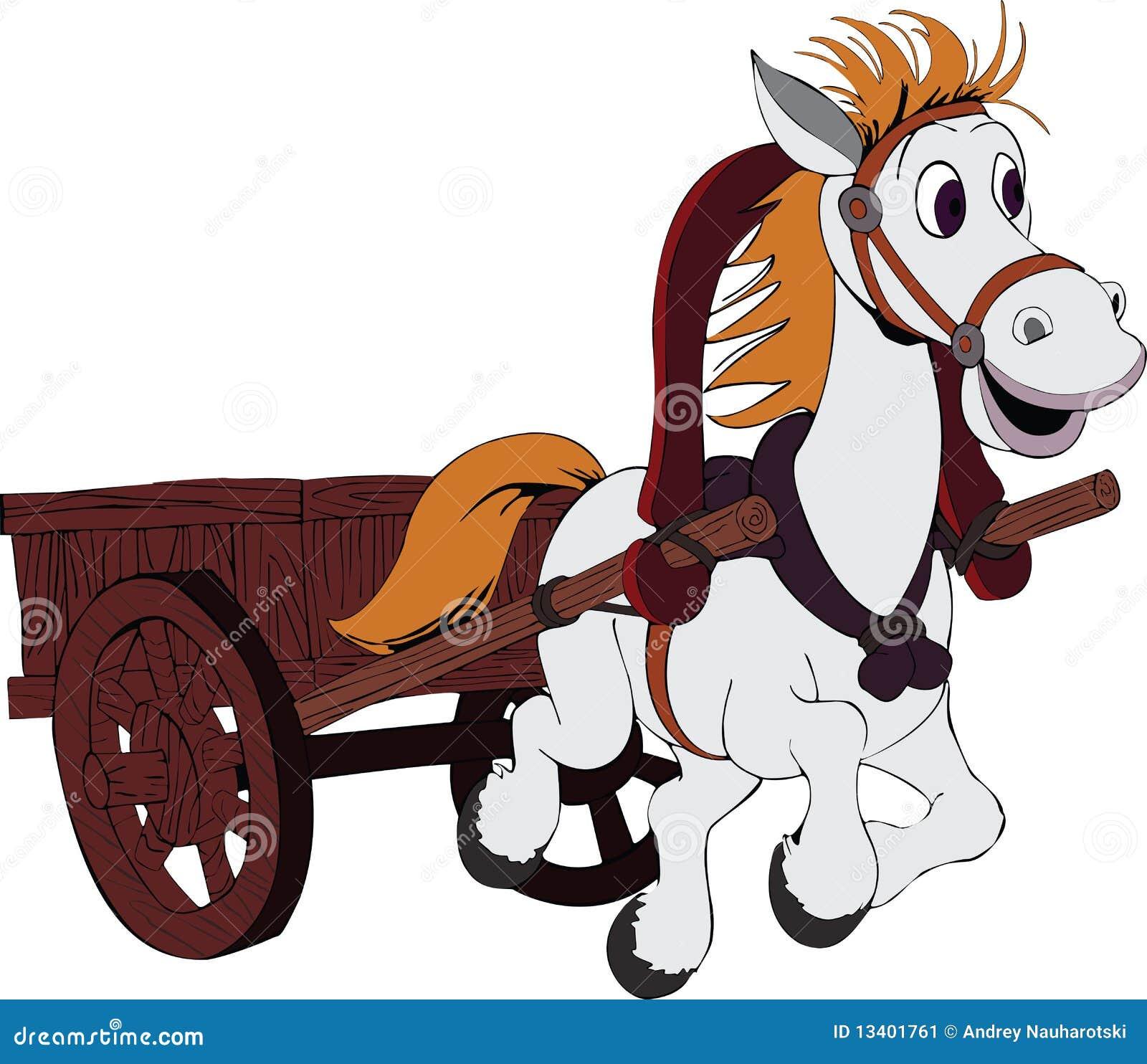 Рисунки лошадей с повозками