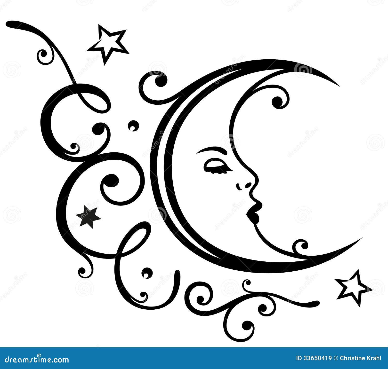 Луна, звезды, небо