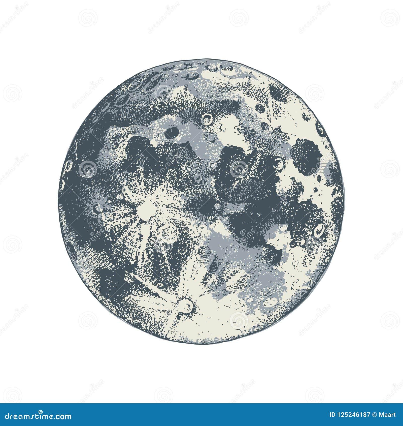 Луна нарисованная рукой