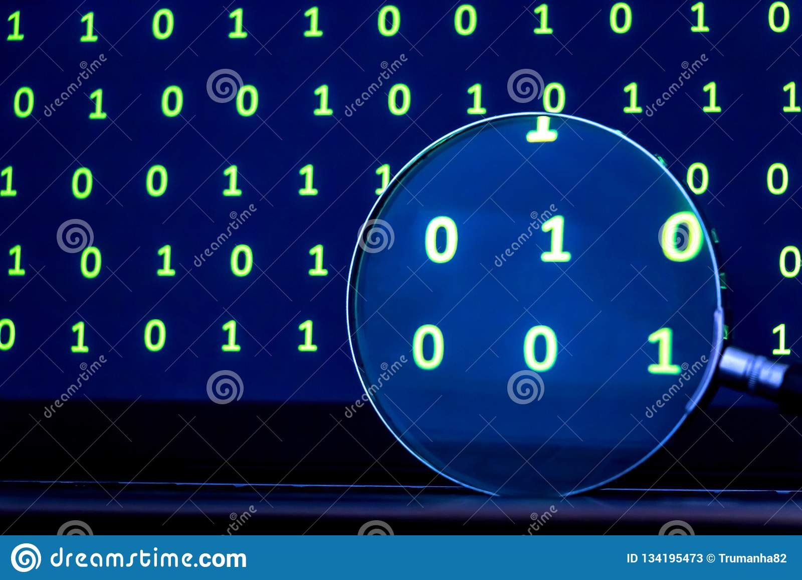 Лупа ища кода от двоичных данных