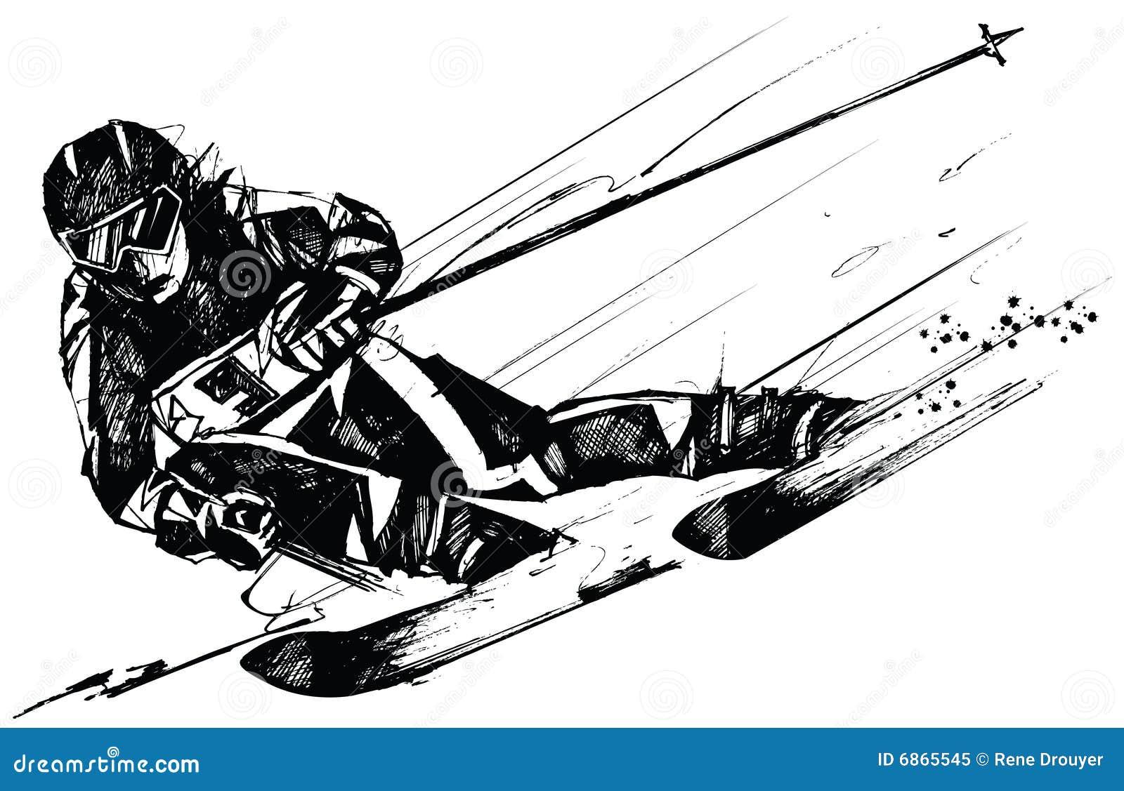лыжа конкурента действия