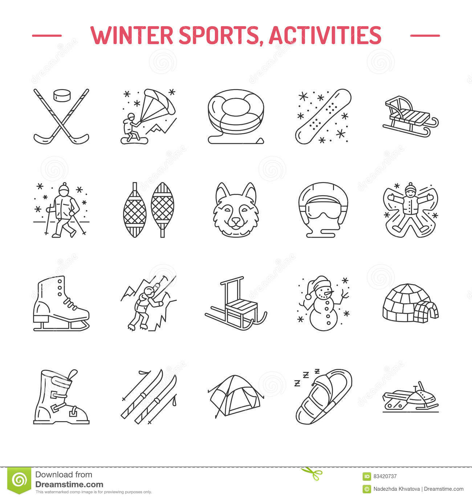 Лыжа, сноуборд, коньки, трубопровод, лед линия значок спорта зимы kiting, взбираться и другой