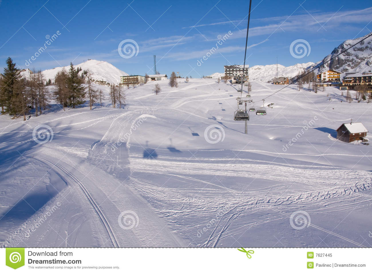 лыжа chairlift