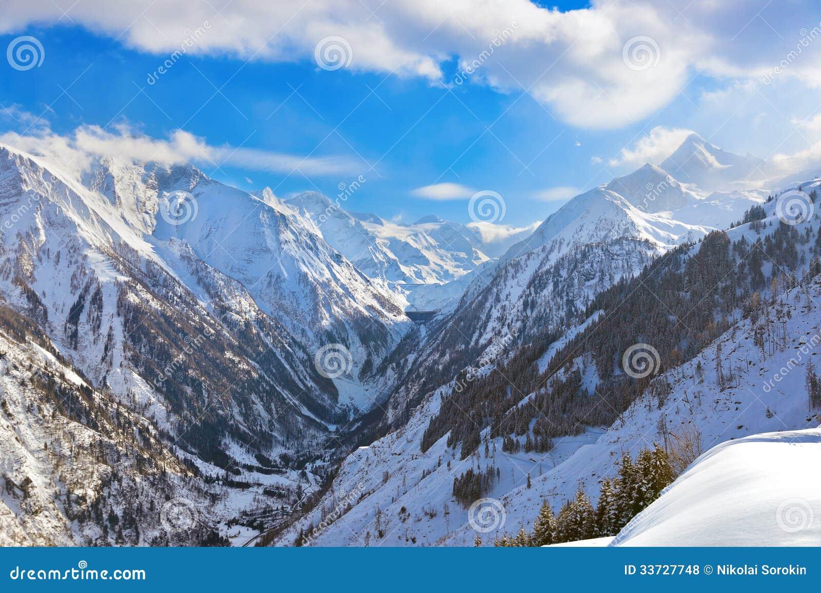 Лыжный курорт Kaprun гор Австрия