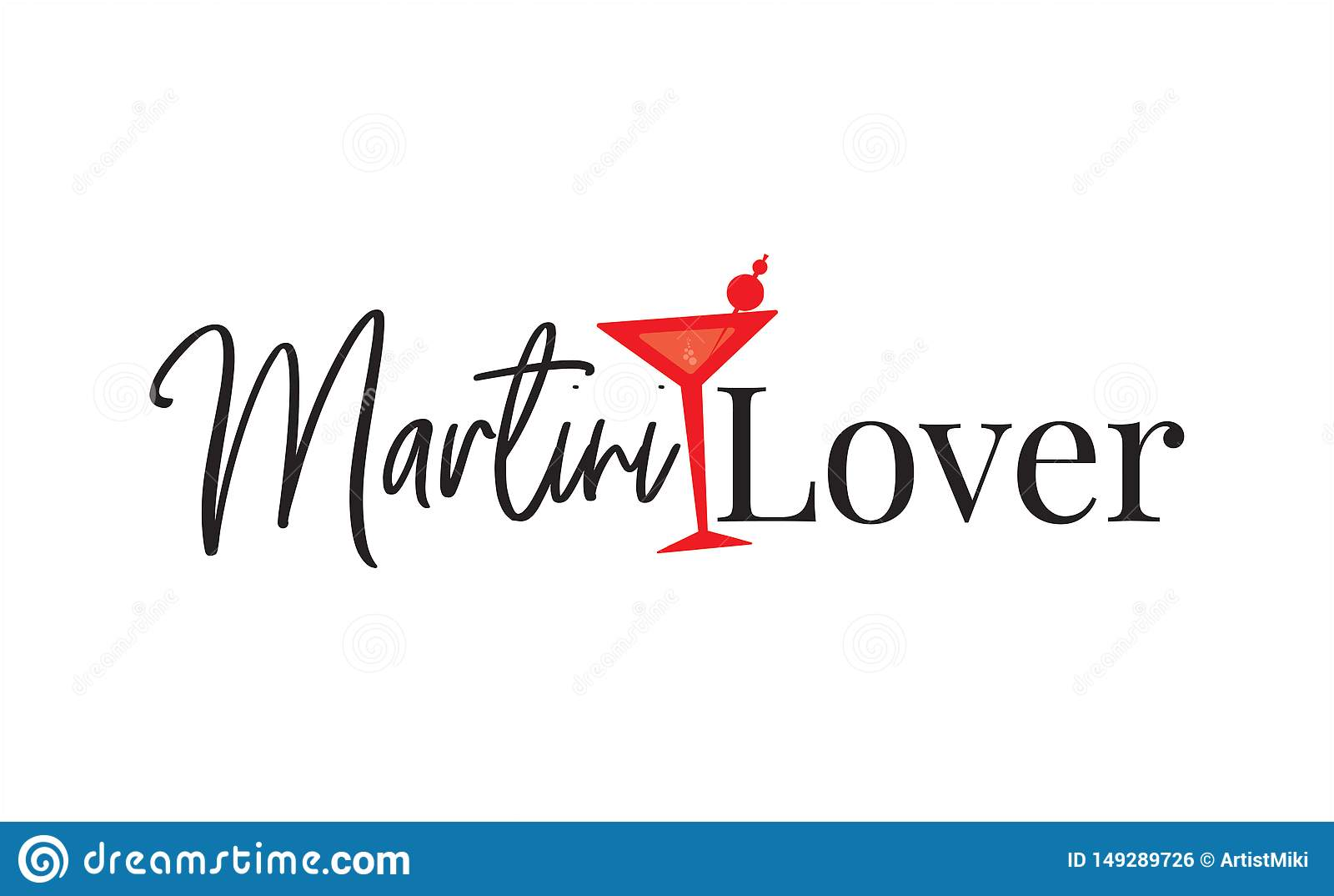 Любовник Мартини, дизайн футболки, дизайн плаката, формулируя дизайн, литерность, иллюстрация Мартини стеклянная