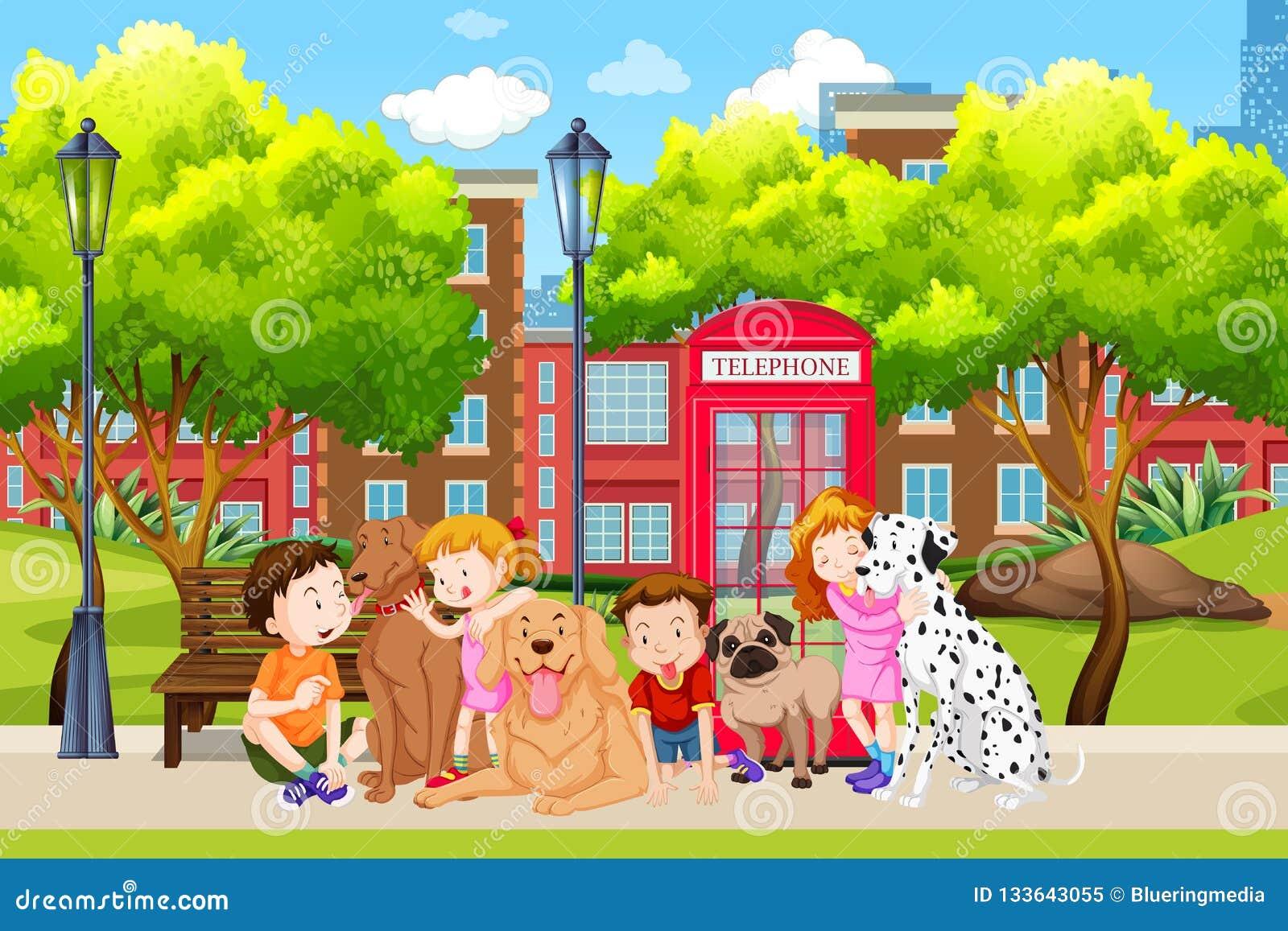 Любовник собаки в парке
