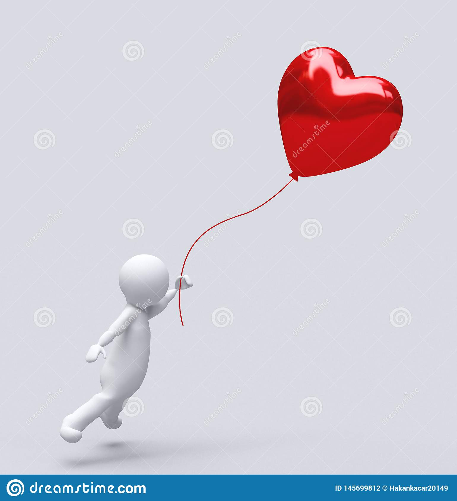 Любовь Baloon изолированное на белом, сердце баллона: красная концепция любов Валентайн, день Святого Валентина ısolated