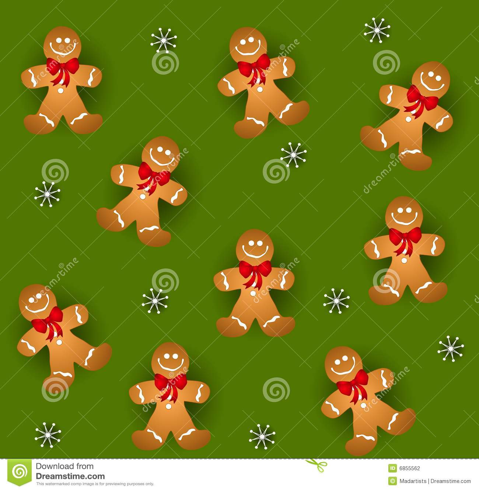 люди gingerbread tileable