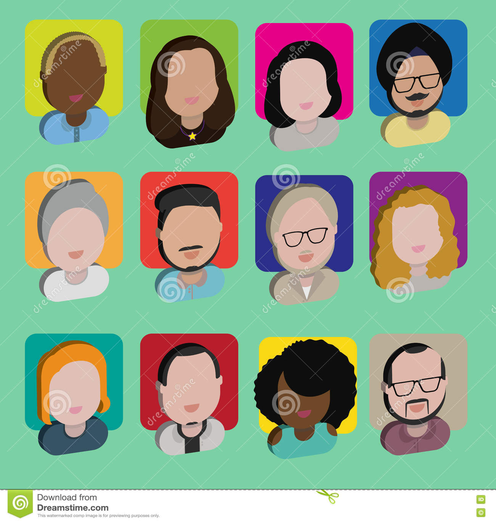 Download Людей общины разнообразия концепция значков дизайна межрасовых плоская Иллюстрация вектора - иллюстрации насчитывающей характеры, сторона: 72276755