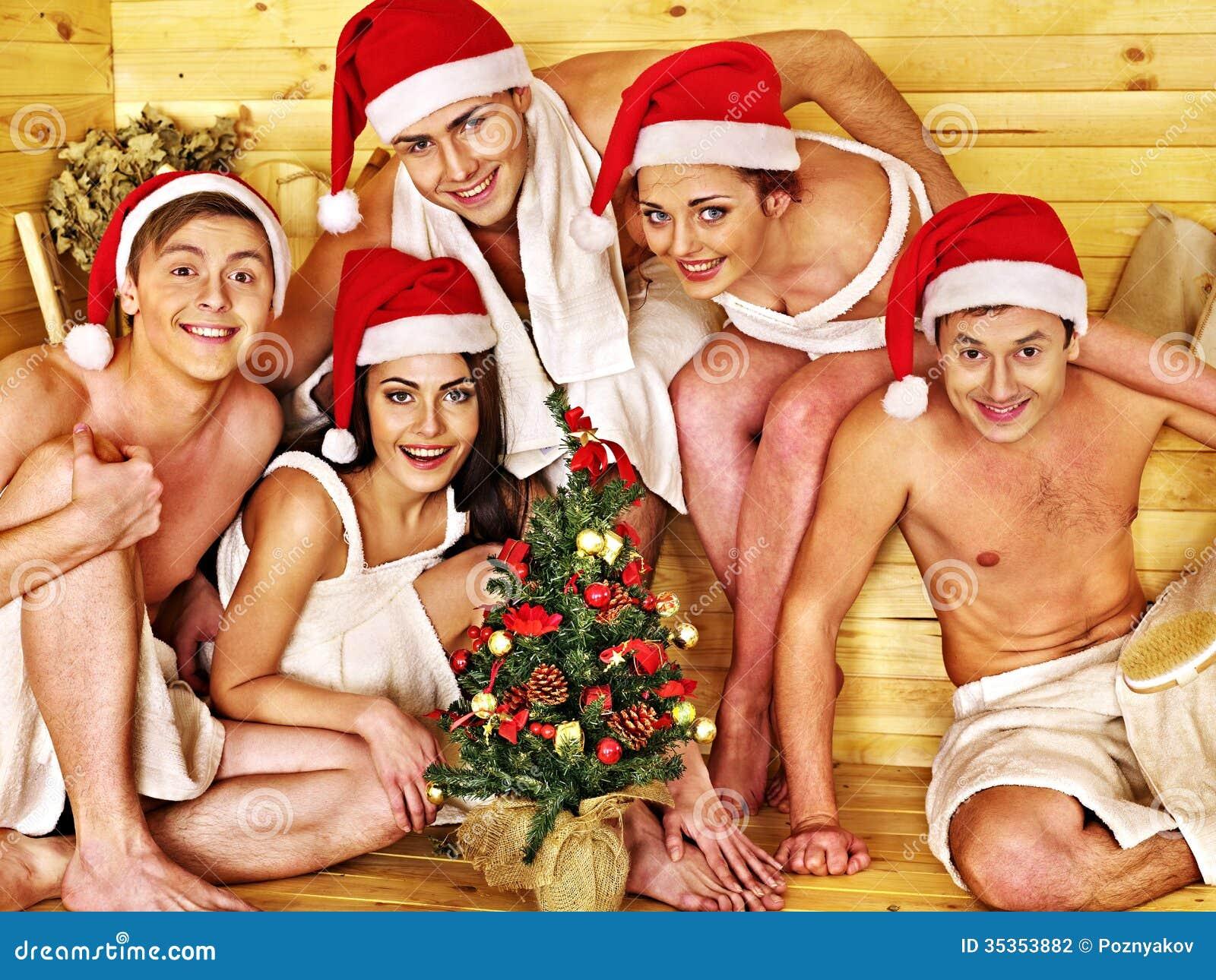 Кто отмечал новый год в сауне
