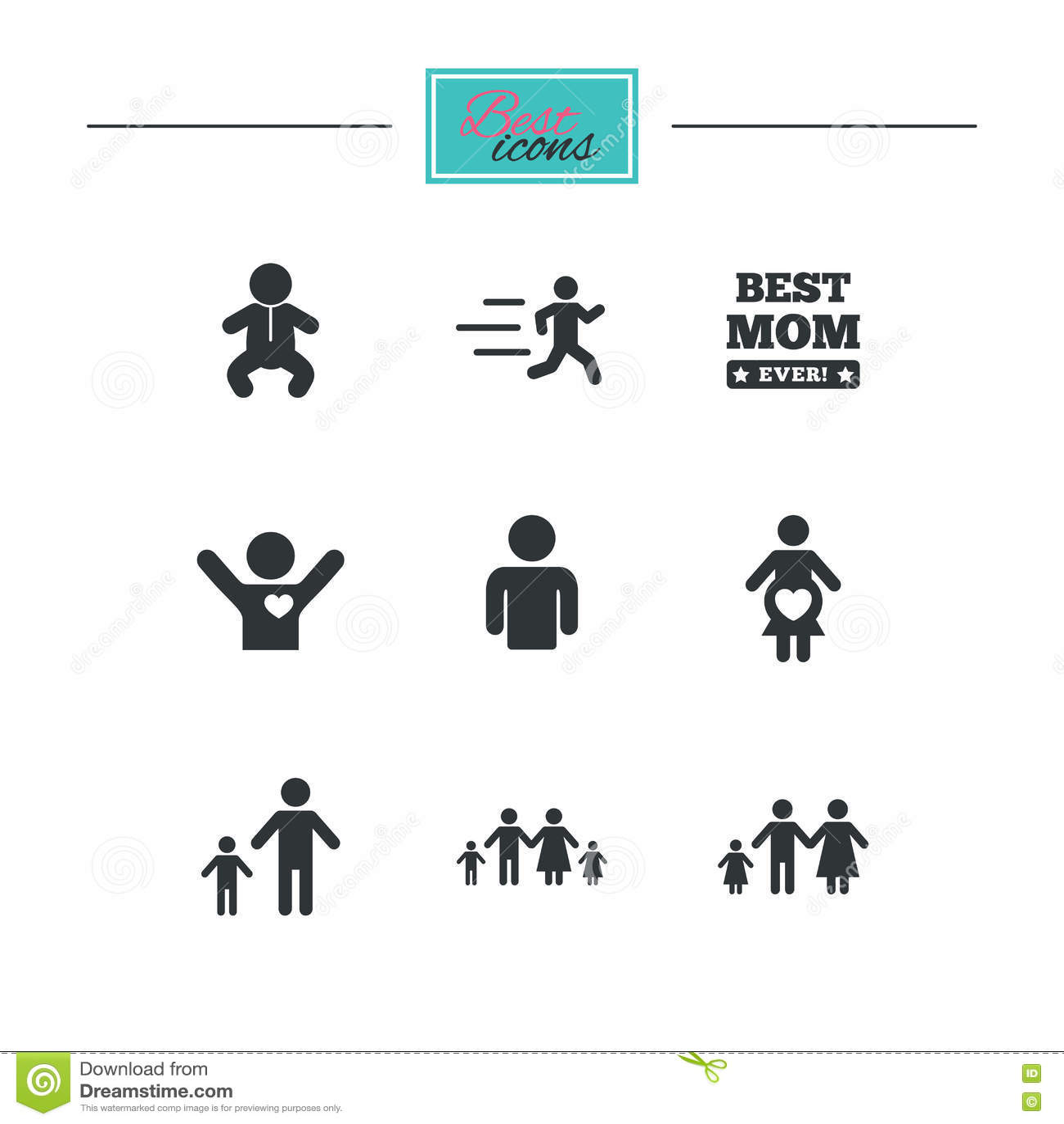 Люди, значки семьи Знак материнства