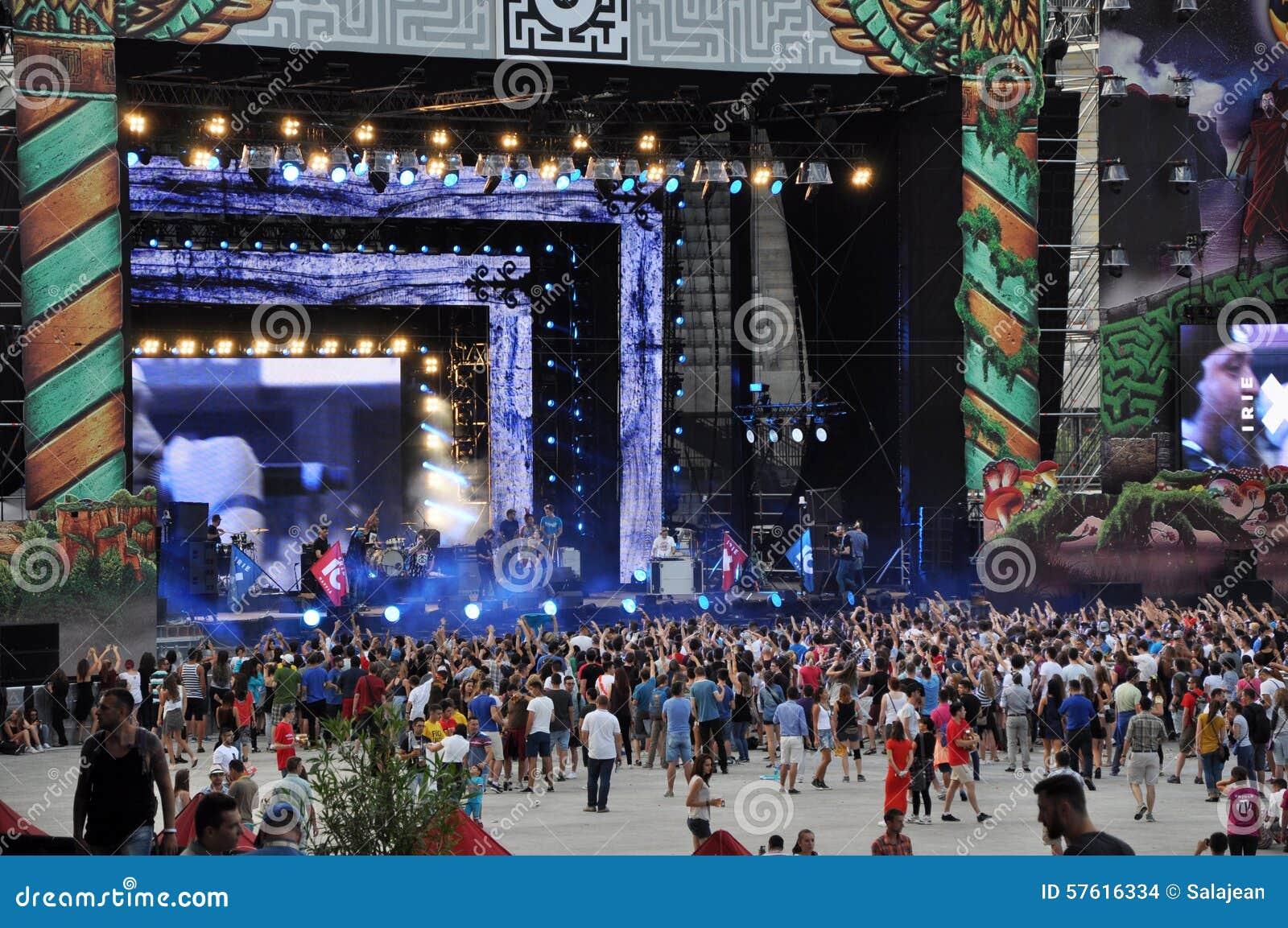 Люди партии на концерте в реальном маштабе времени