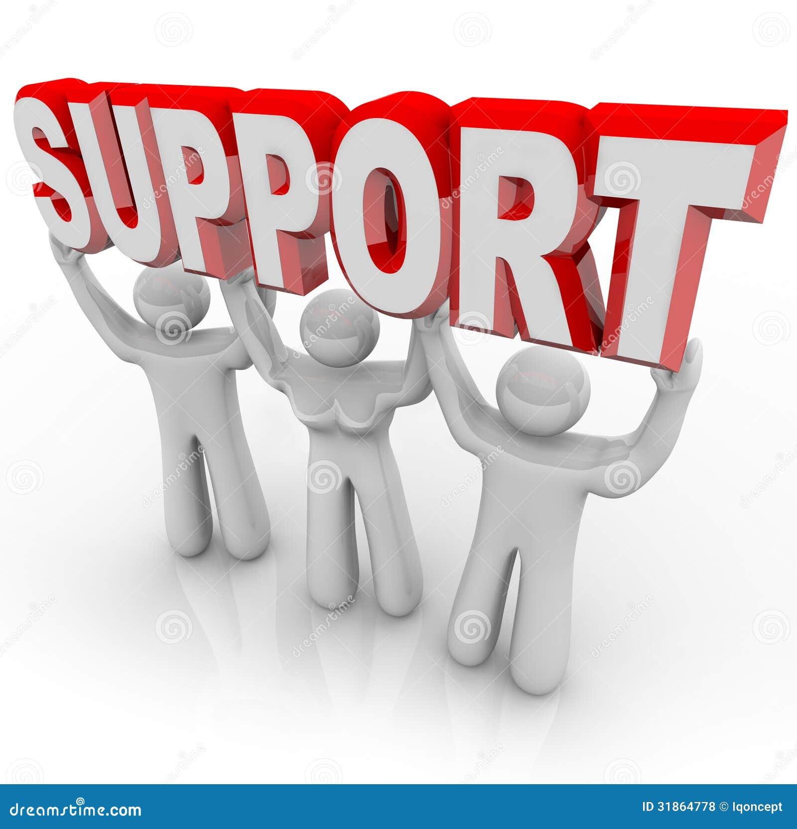 Люди поддержки поднимая вашу тяготу в трудных временах