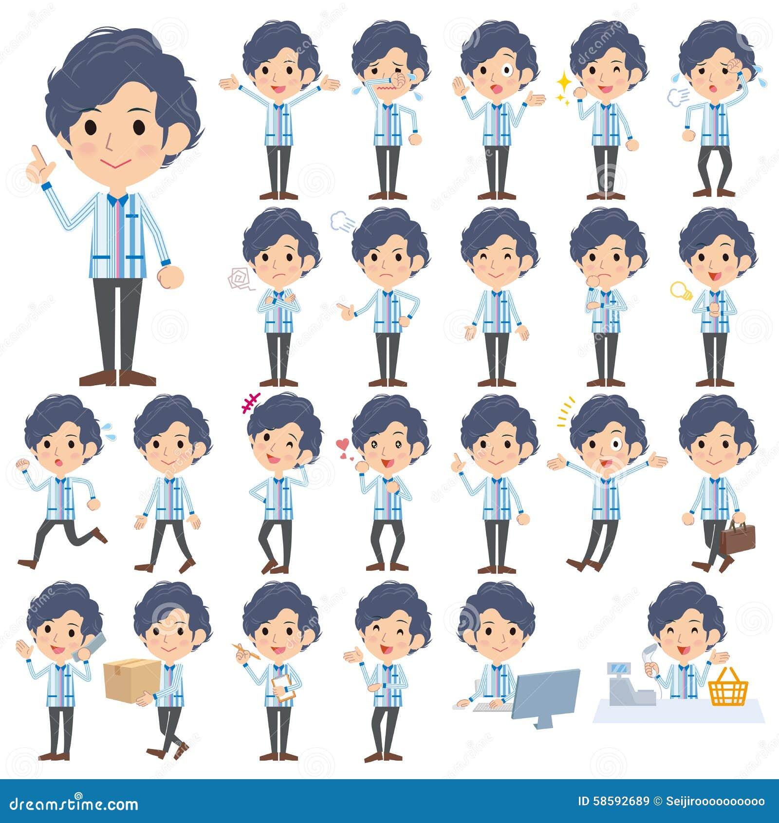 Люди форм ночного магазина голубые