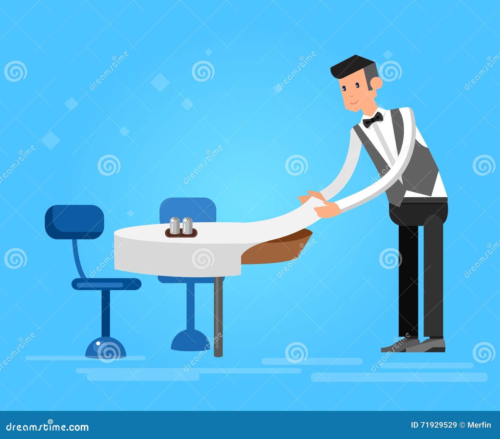 Люди характера вектора детальные в ресторане