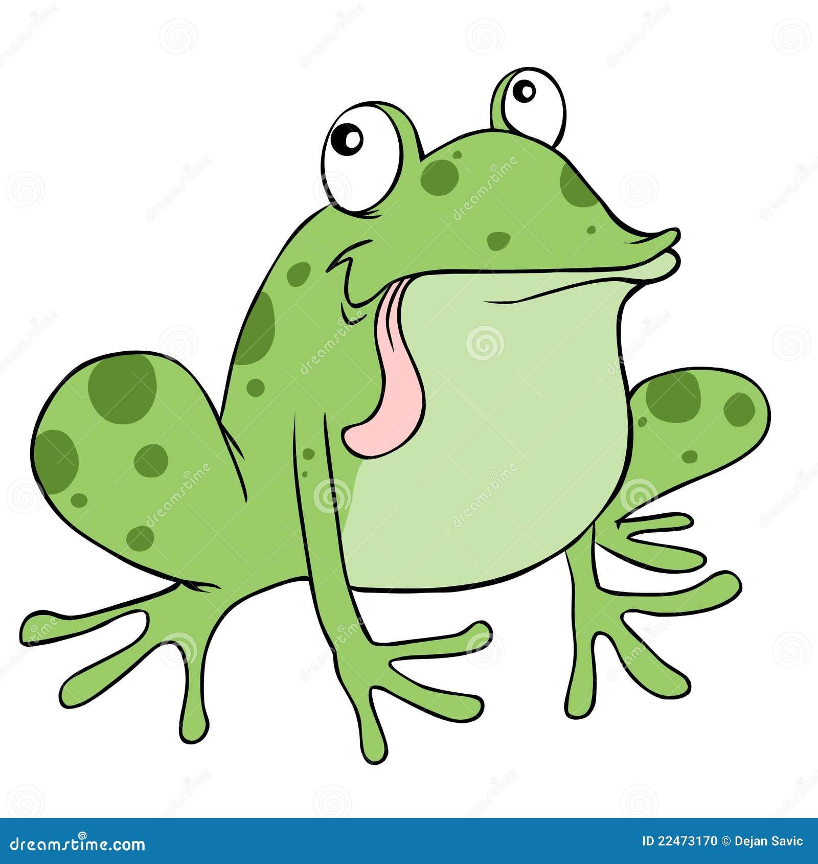 лягушка шаржа