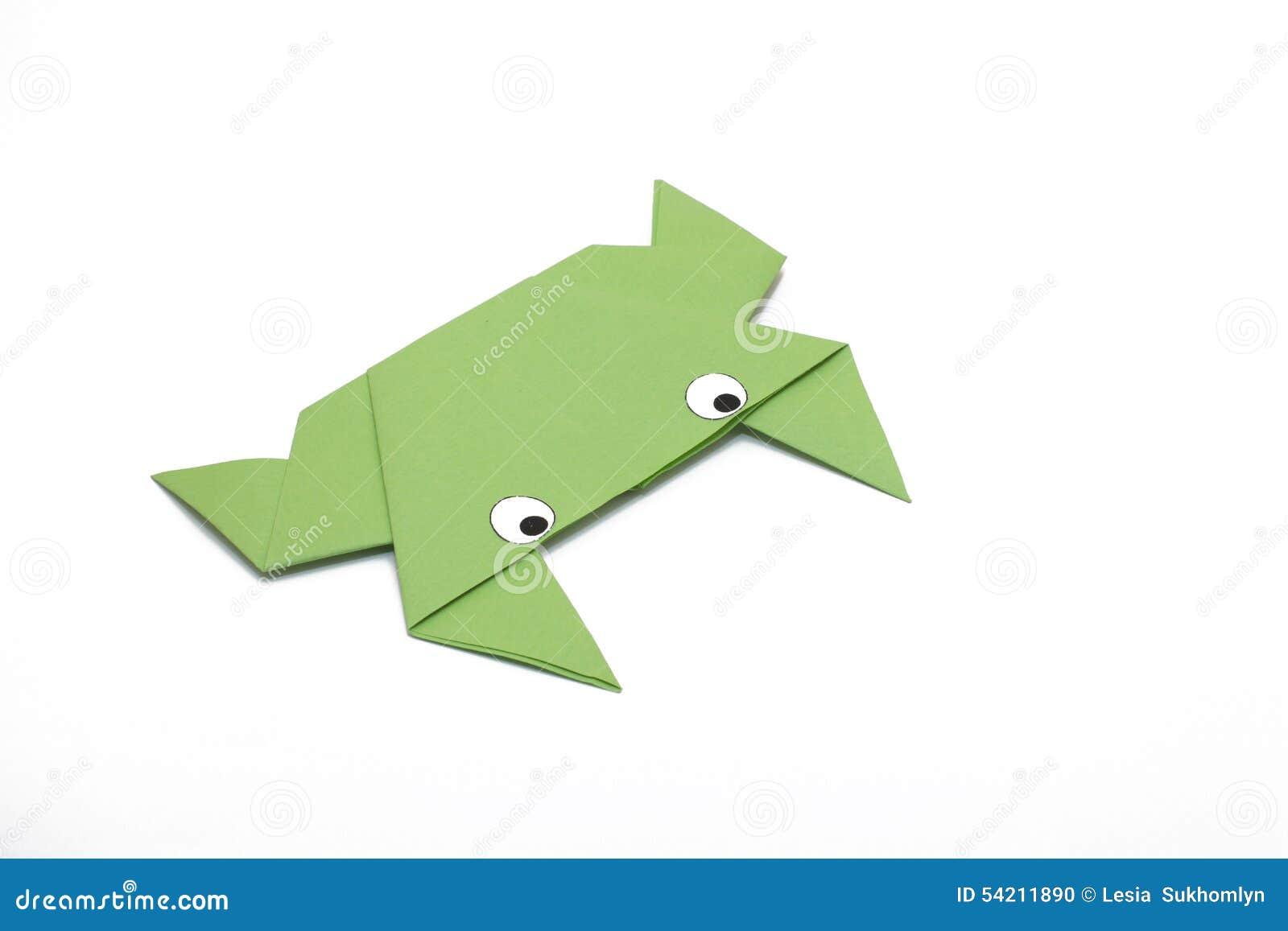 Лягушка Origami зеленая