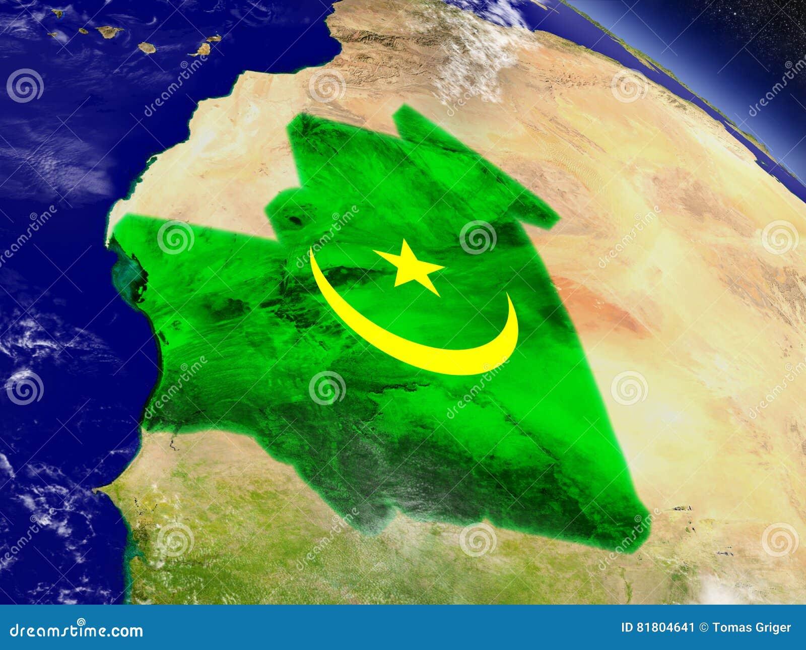 Мавритания с врезанным флагом на земле
