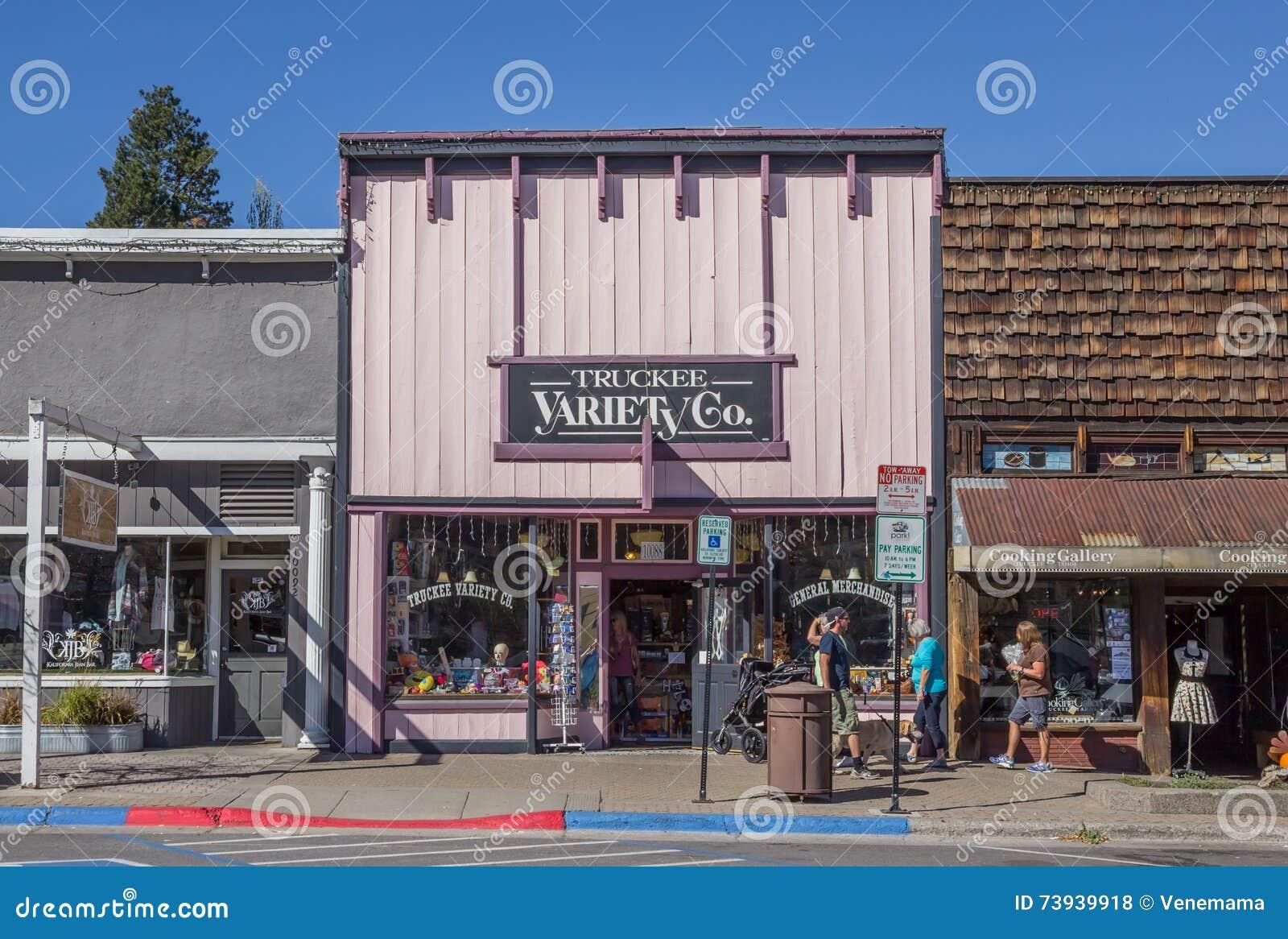 Магазины на главной улице Truckee, Калифорнии
