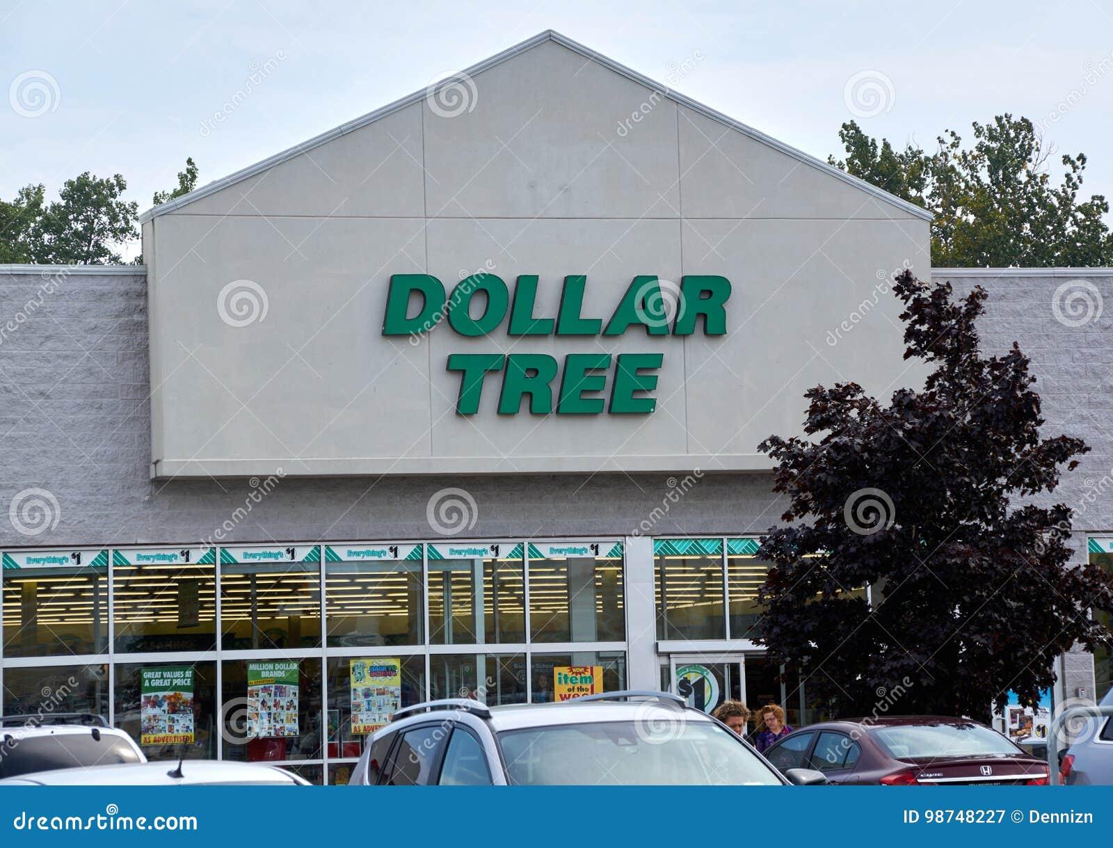 Магазин и знак дерева доллара