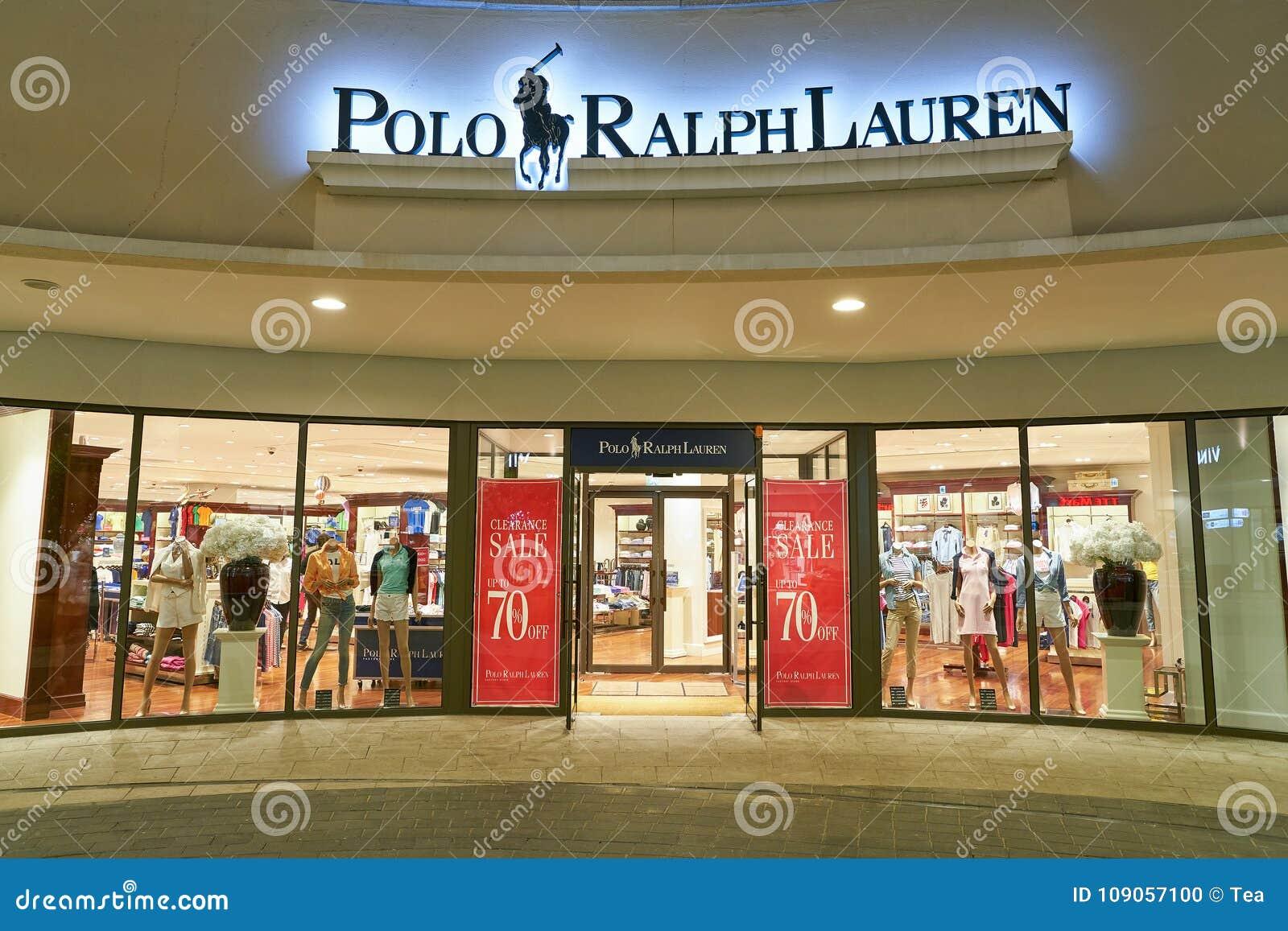 109c52db389c Магазин Поло Ральф Лорен редакционное изображение. изображение ...