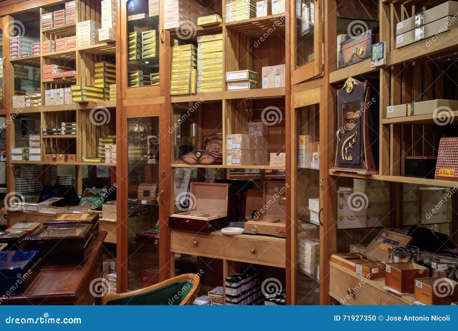 Магазин сигары в Гаване Кубе