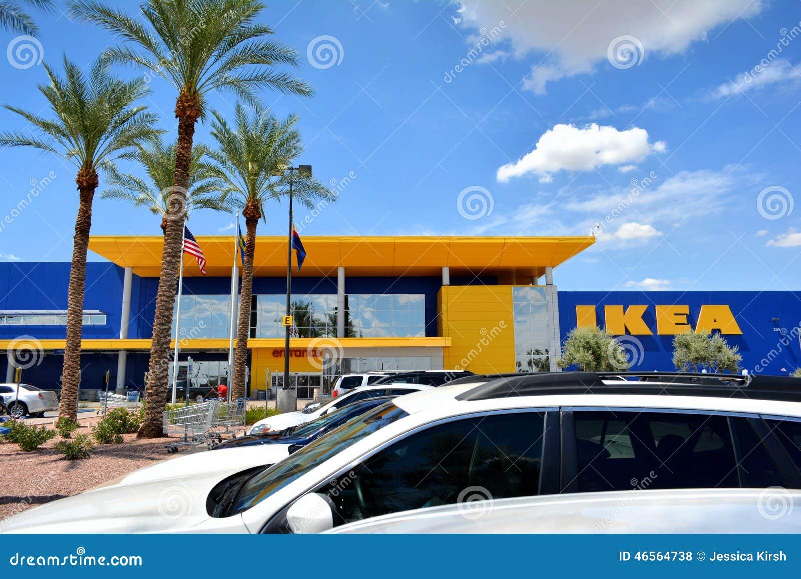магазин хозяйственных товаров Ikea редакционное стоковое фото