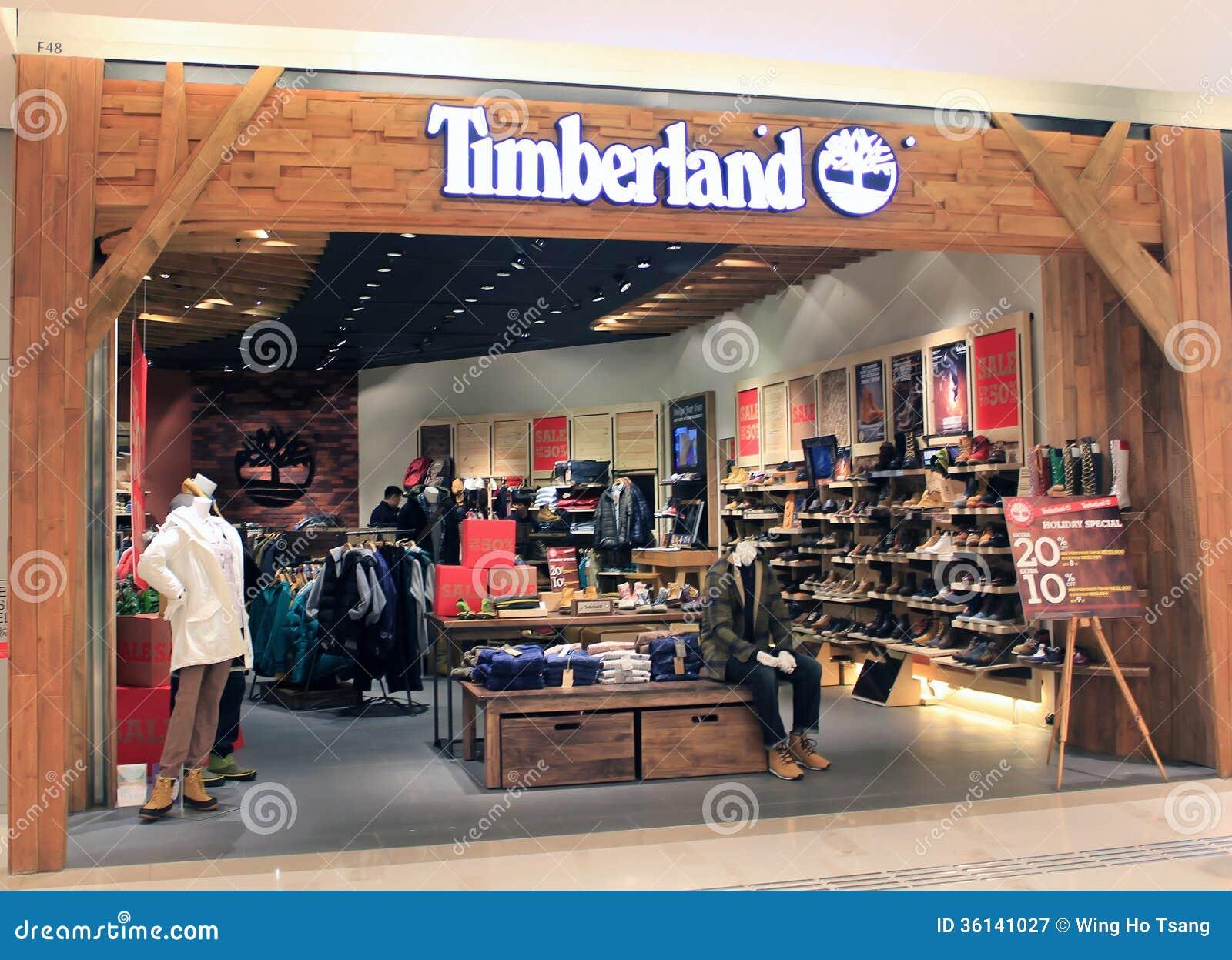 Магазин Timberland в Гонконге Редакционное Фотография - изображение ... 94c288b7d553c