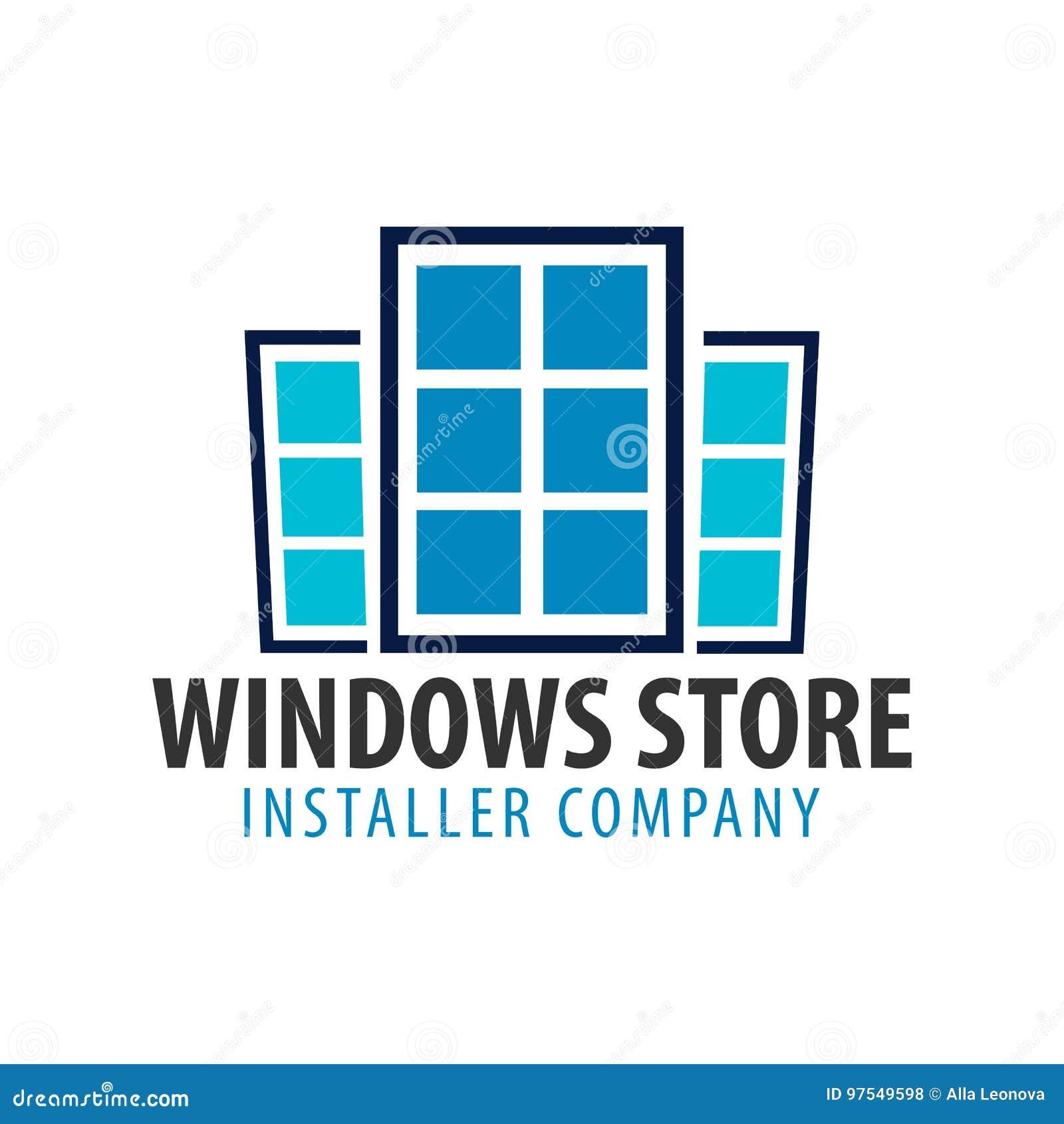 Магазин Windows логотипа Компания установителя также вектор иллюстрации притяжки corel