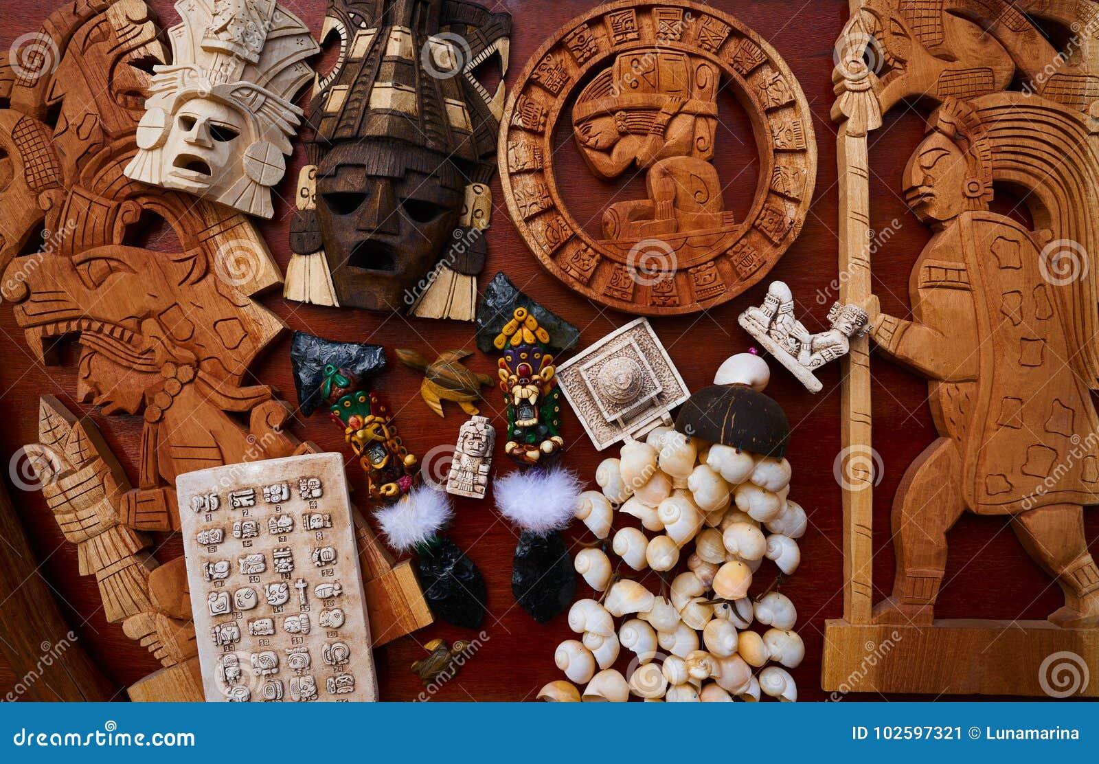 Майяский мексиканец handcrafts смешивание сувениров