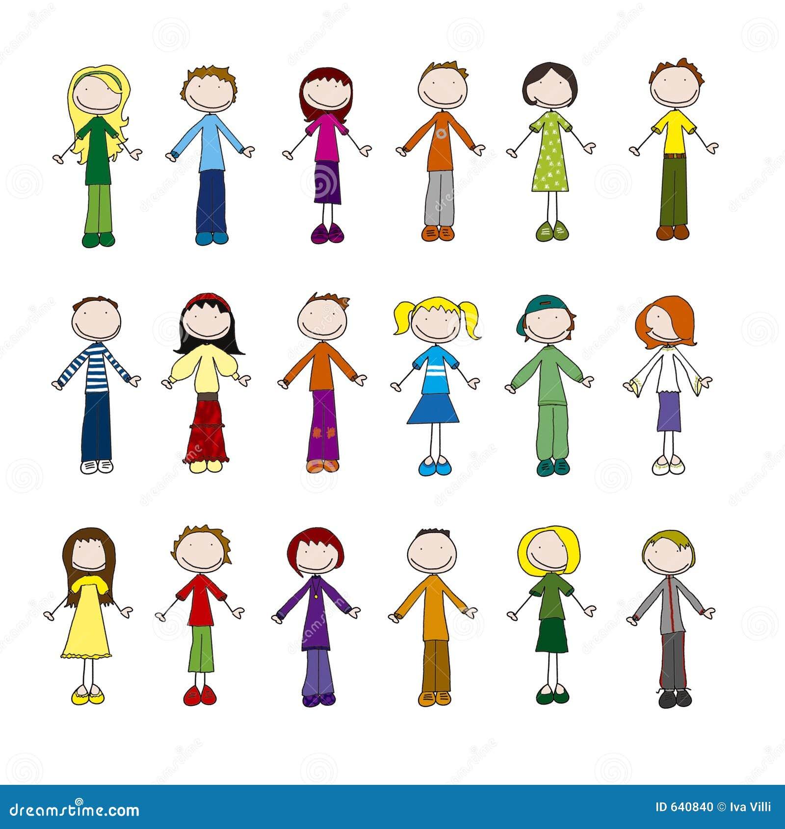 Download маленькие люди иллюстрация штока. иллюстрации насчитывающей много - 640840