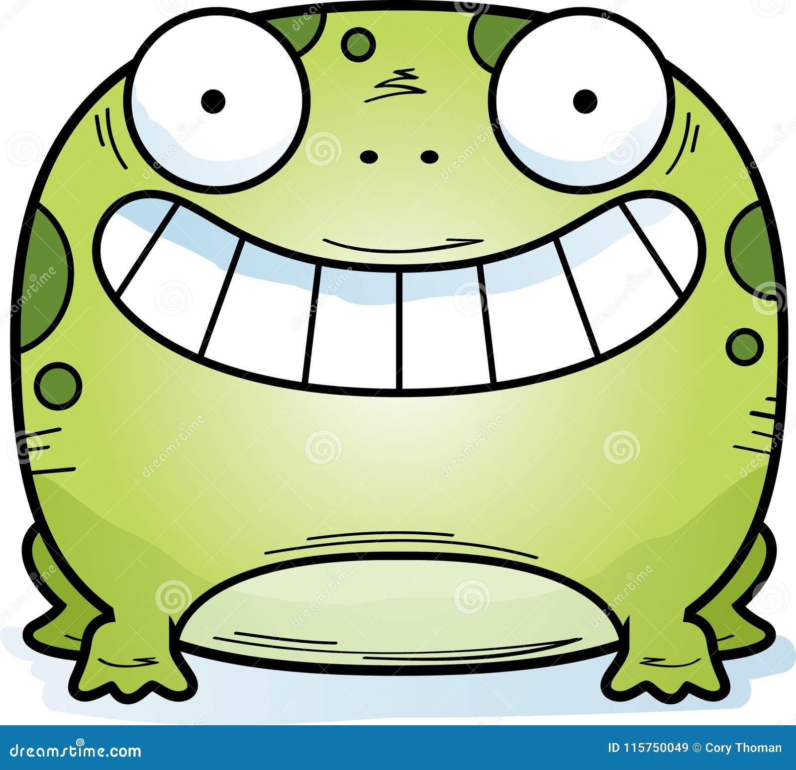 Маленький усмехаться лягушки