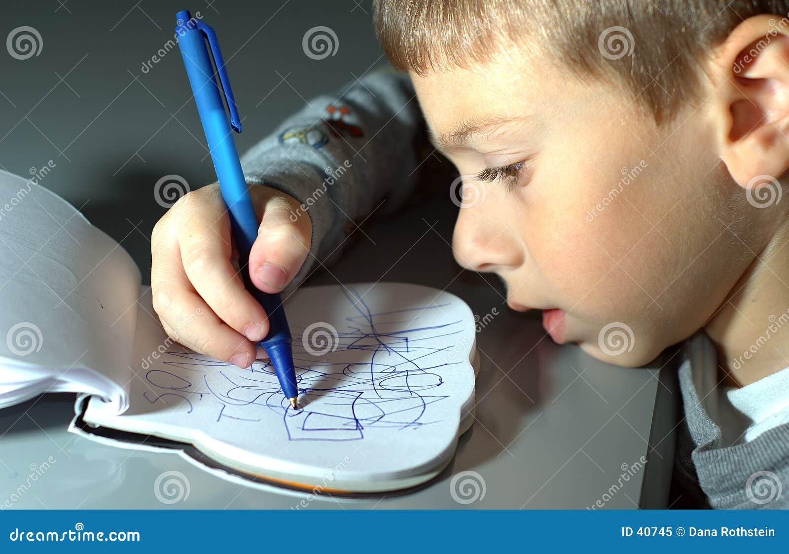 малыш чертежа